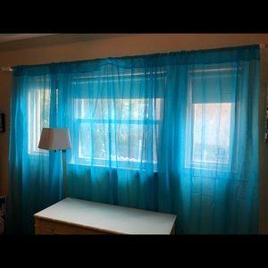 Blue light filtering curtains